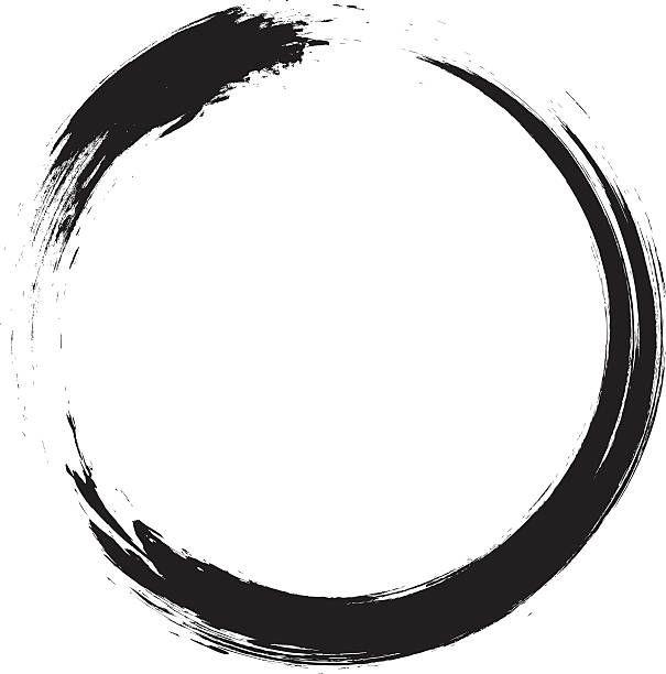 605x612 Enso Circular Brush Stroke (Japanese Zen Circle Calligraphy