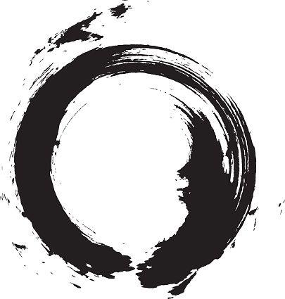 405x425 Enso Circular Brush Stroke (Japanese Zen Circle Calligraphy