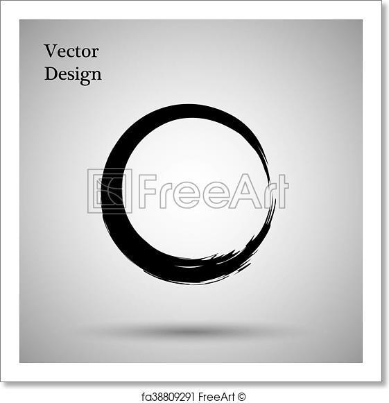 561x581 Free Art Print Of Hand Drawn Circle Shape. Label, Logo Design