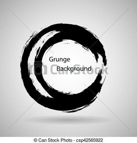 450x470 Hand Drawn Circle Shape. Label, Logo Design Element. Brush