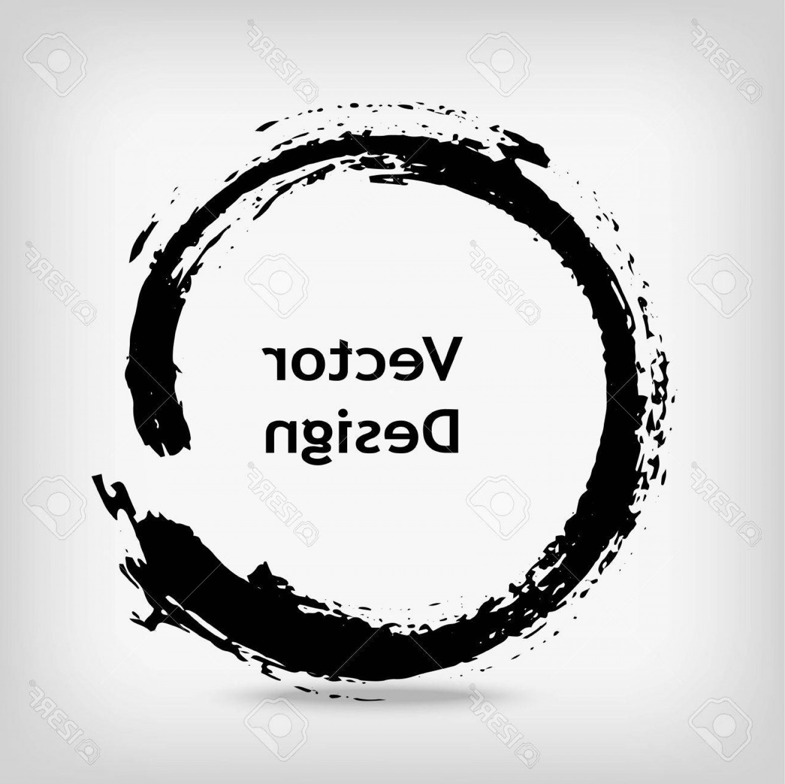 1560x1558 Photostock Vector Artistic Creative Painted Circle For Logo Label