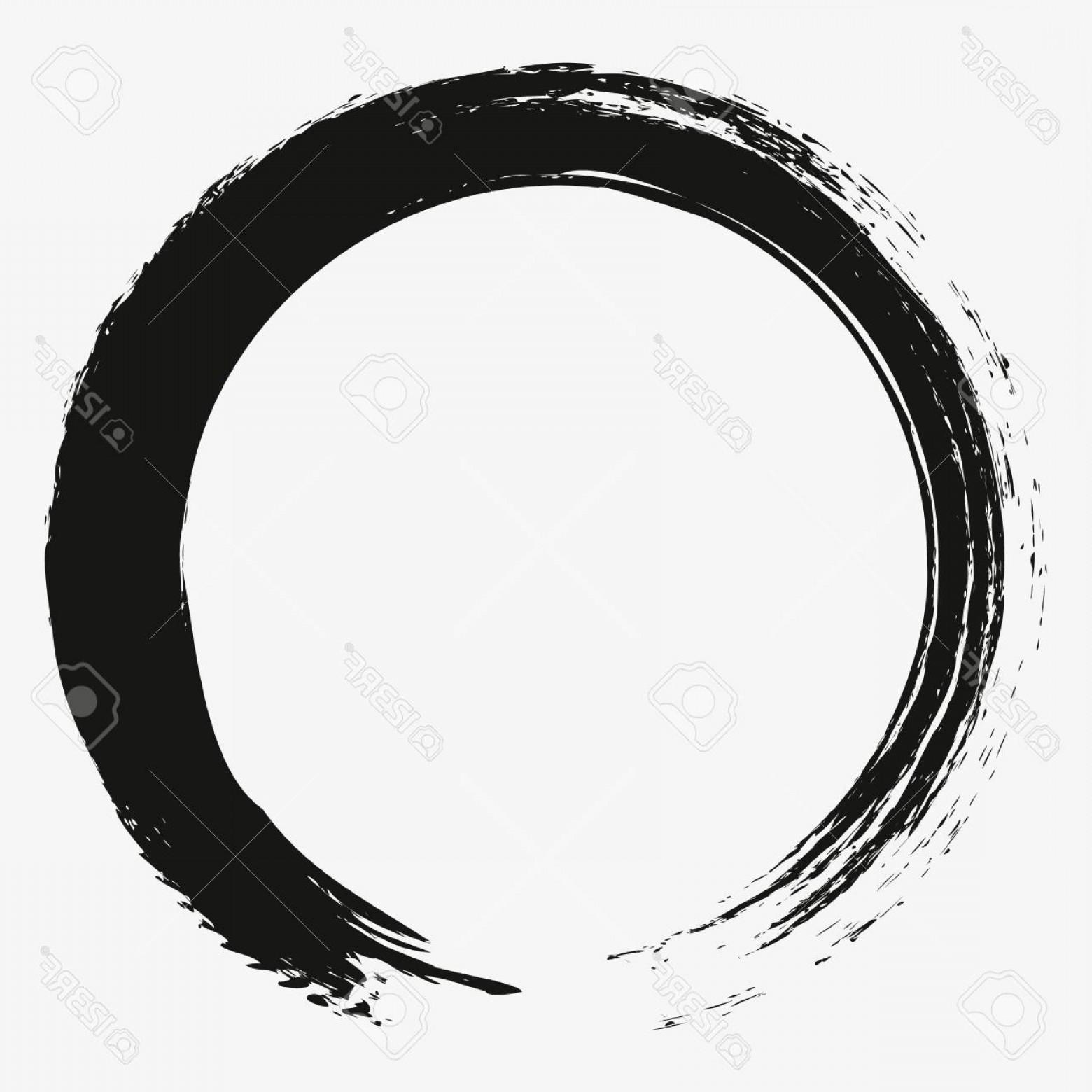 1560x1560 Photostock Vector Painting Enso Zen Circle Brush Vector