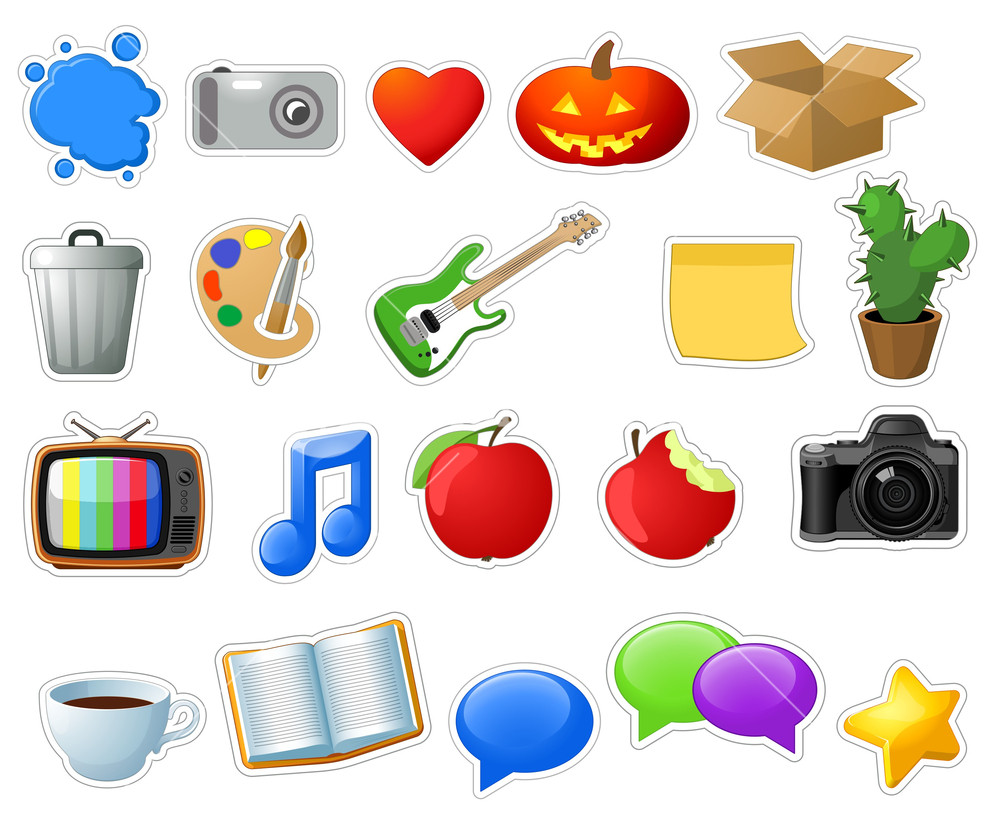 1000x824 Entertainment Icons. Vector. Royalty Free Stock Image