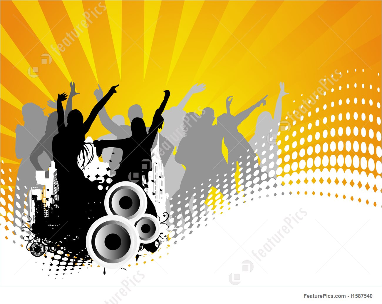 1300x1034 Entertainment Vector Background Of Dancing People