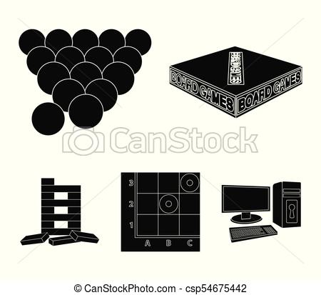 450x413 Board Game Black Icons In Set Collection For Design. Game And