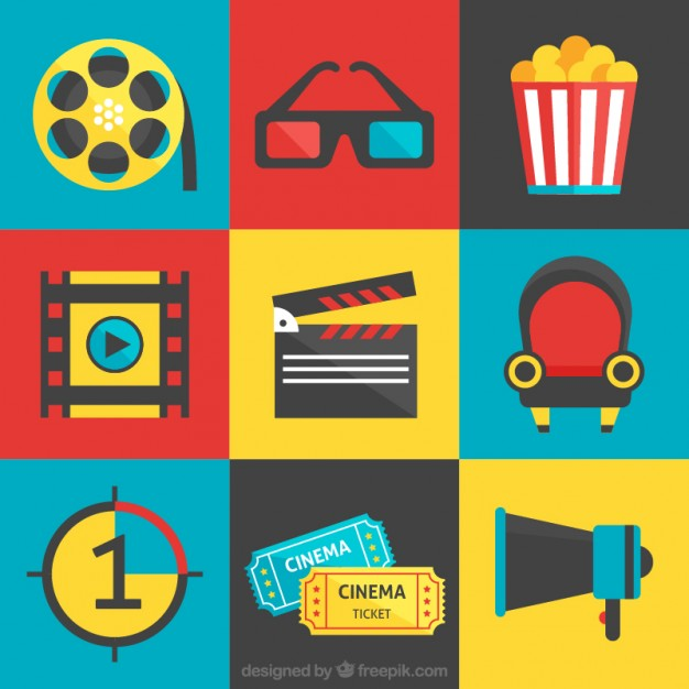 626x626 Collection Of Flat Cine Elements Vector Free Download