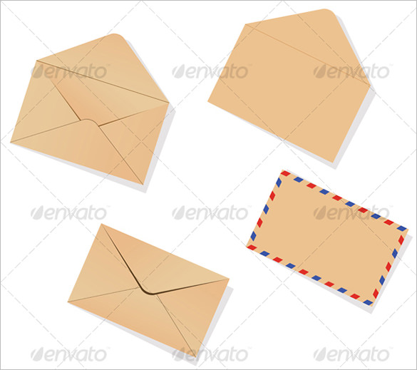 Envelope Template Vector