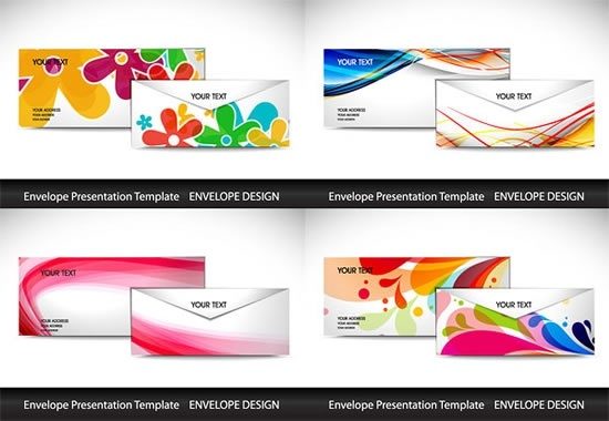 550x380 Colored Envelope Template Vector Free Vector In Encapsulated