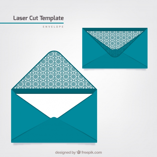 626x626 Laser Cut Envelope Template Vector Free Download