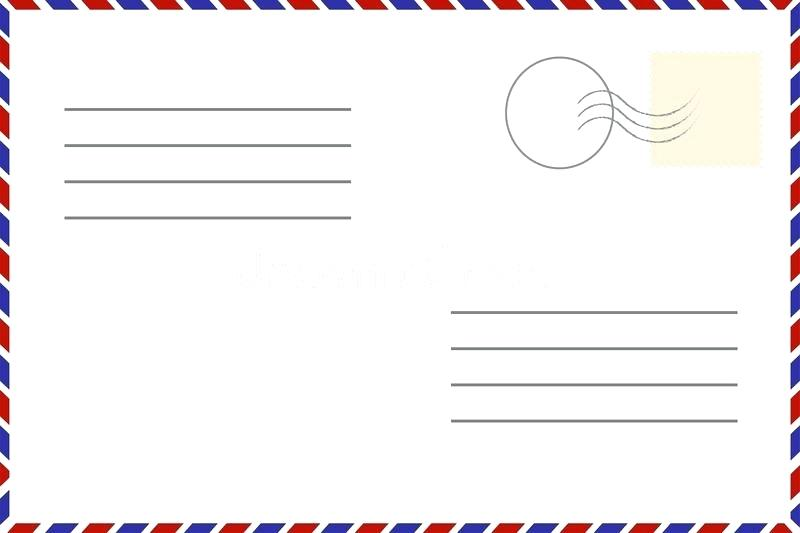 800x533 Old Template Retro Airmail Envelope With Stamp Stock Vector