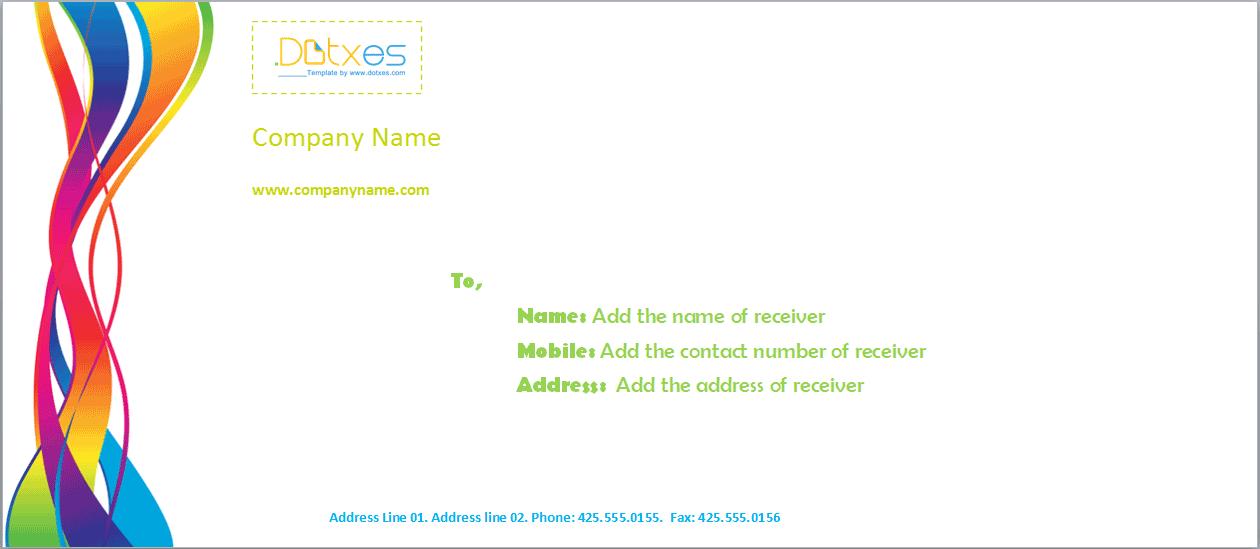 1260x549 Printable Envelope Template (Vector Graphics)
