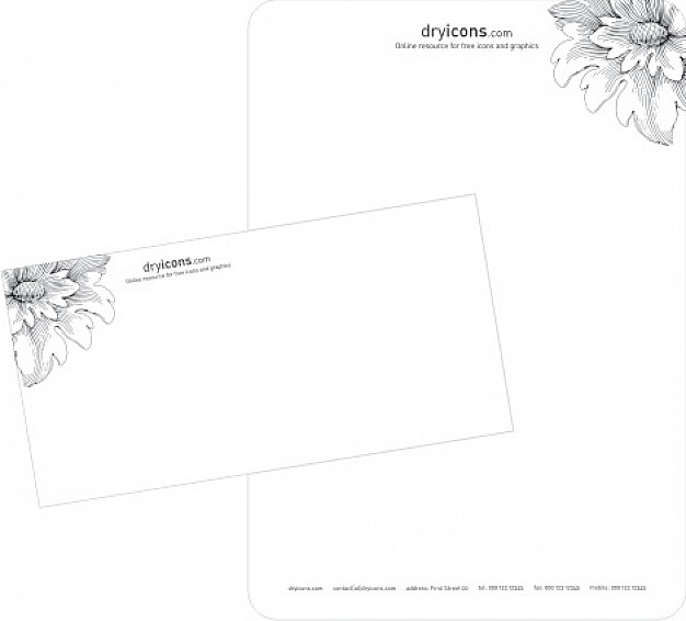 626x566 Stylish Letterhead And Envelope Template Vector Free Download
