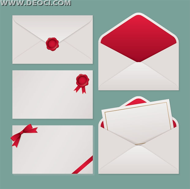 620x617 5 Vector Blank Envelope Design Template Ai File Free Download