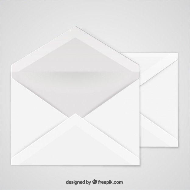 624x626 Open Envelope Free Vector Mockup Mockup