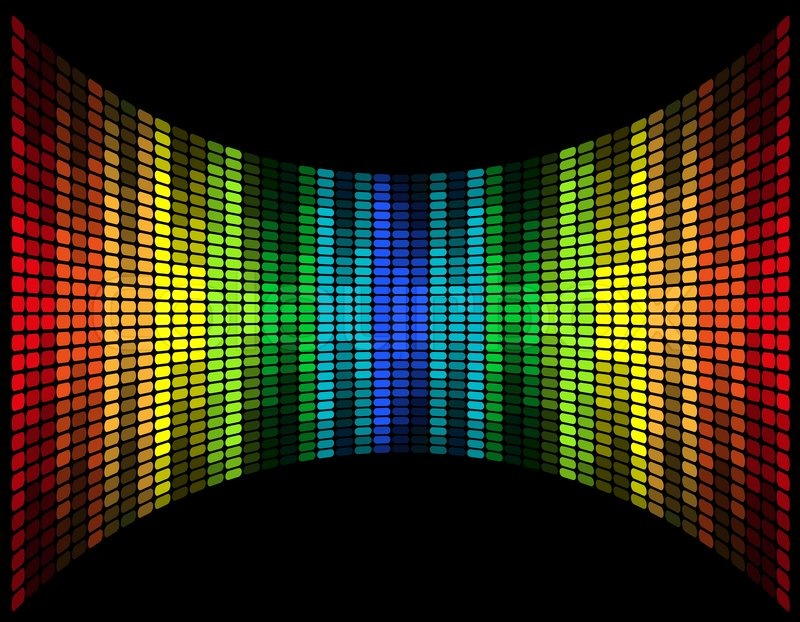 800x622 Abstract Multicolored Graphic Equalizer Vector Illustration