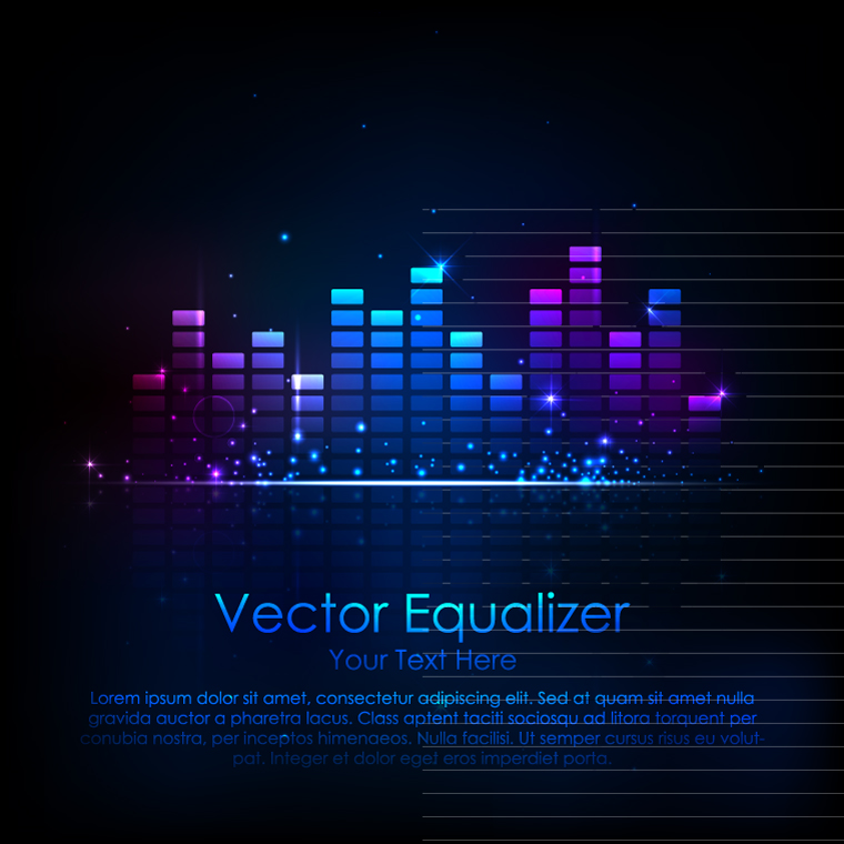 760x760 Music Equalizer Vector Eps Free Vector Graphic Download