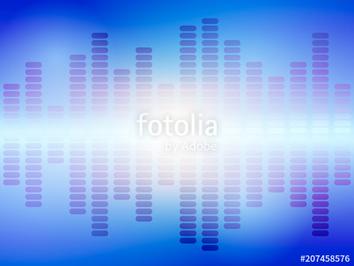 500x375 Music Blue Equalizer. Vector Illustration. Stock Image And