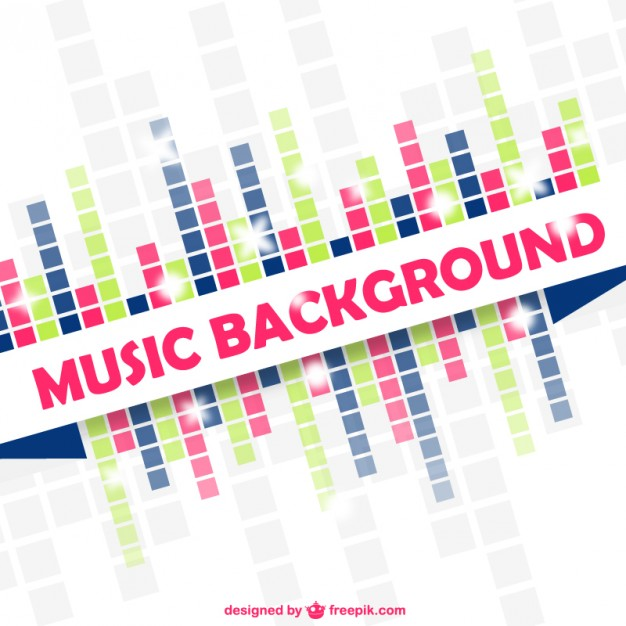 626x626 Music Equalizer Bakcground Vector Free Download