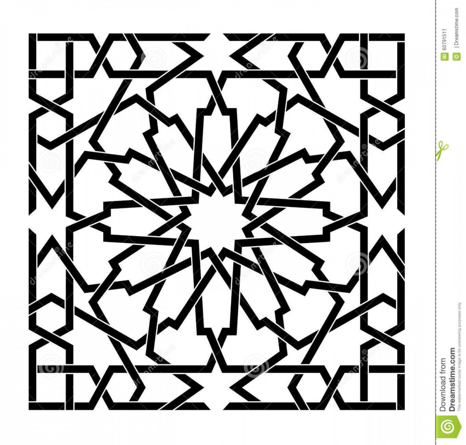 1962x1872 Arabic Islamic Vector Pattern Star Inter Connecting Tile Shopatcloth
