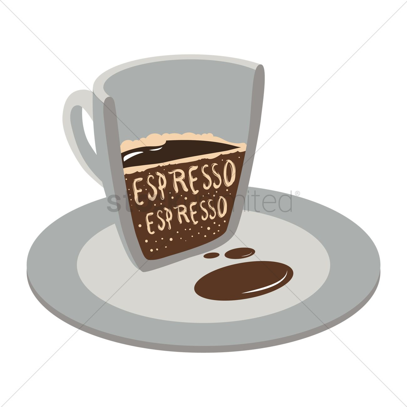 1300x1300 Cup Of Double Espresso Vector Image
