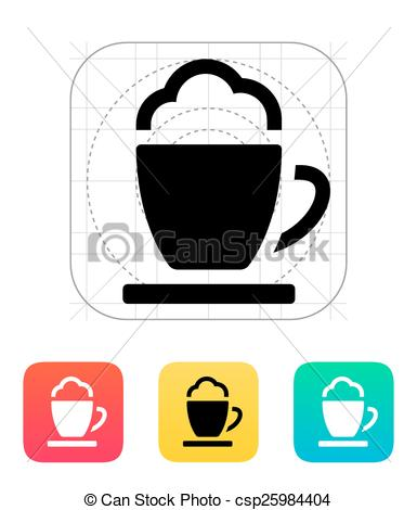 385x470 Espresso Cup Icon. Vector Illustration.