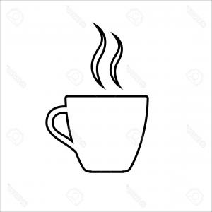 300x300 Photostock Vector Espresso Line Icon Strong Coffee In Espresso Cup