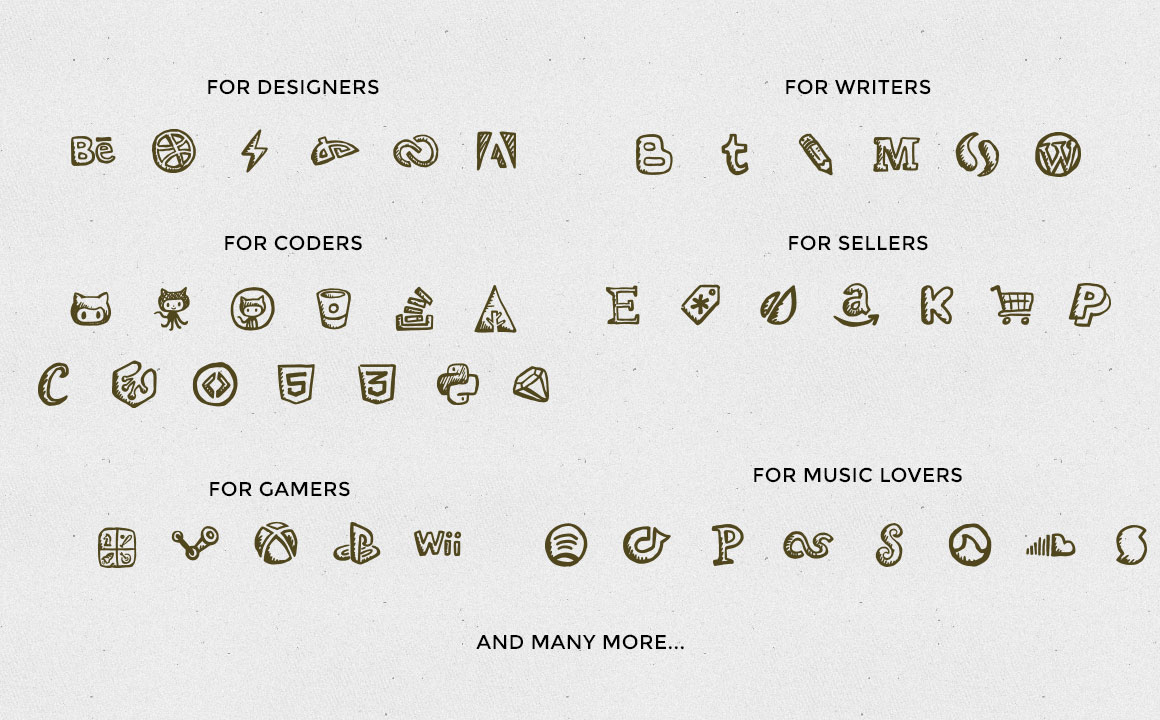 1160x720 Friendly Icons Ultimate 160 Hand Drawn Social Icon Font + Vectors