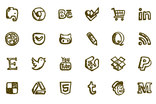 520x346 Friendly Icons Ultimate 160 Hand Drawn Social Icon Font + Vectors