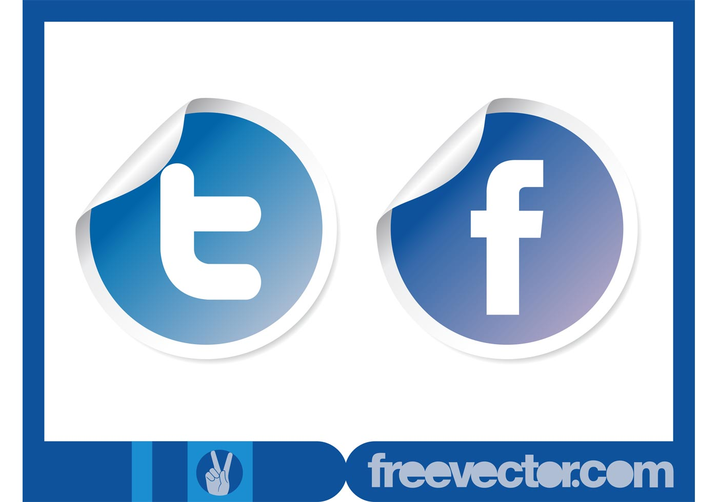 1400x980 Vector Social Stickers