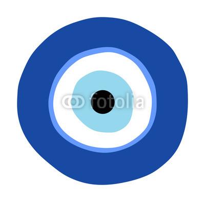 400x394 Greek Evil Eye Vector, Symbol Of Protection. Glass Turkish Eye
