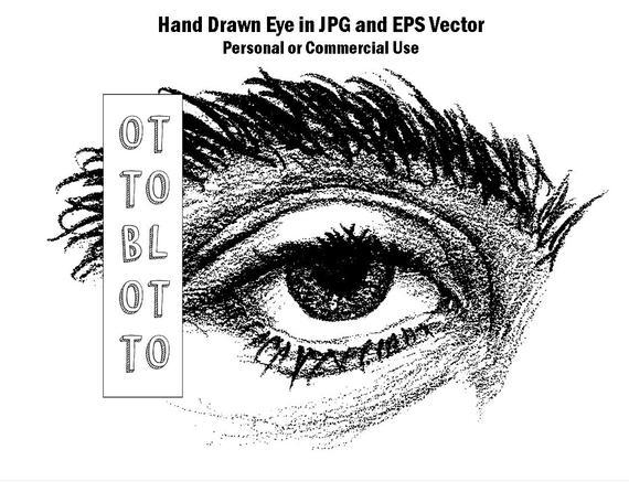 570x456 Evil Eye Drawing Printable Hand Drawn Eye Vector Art Digital Etsy