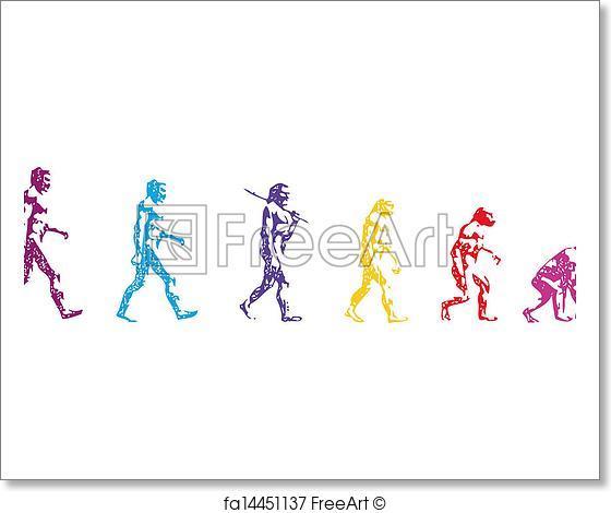 560x470 Free Art Print Of Human Evolution Vector. Body Human Vector Man