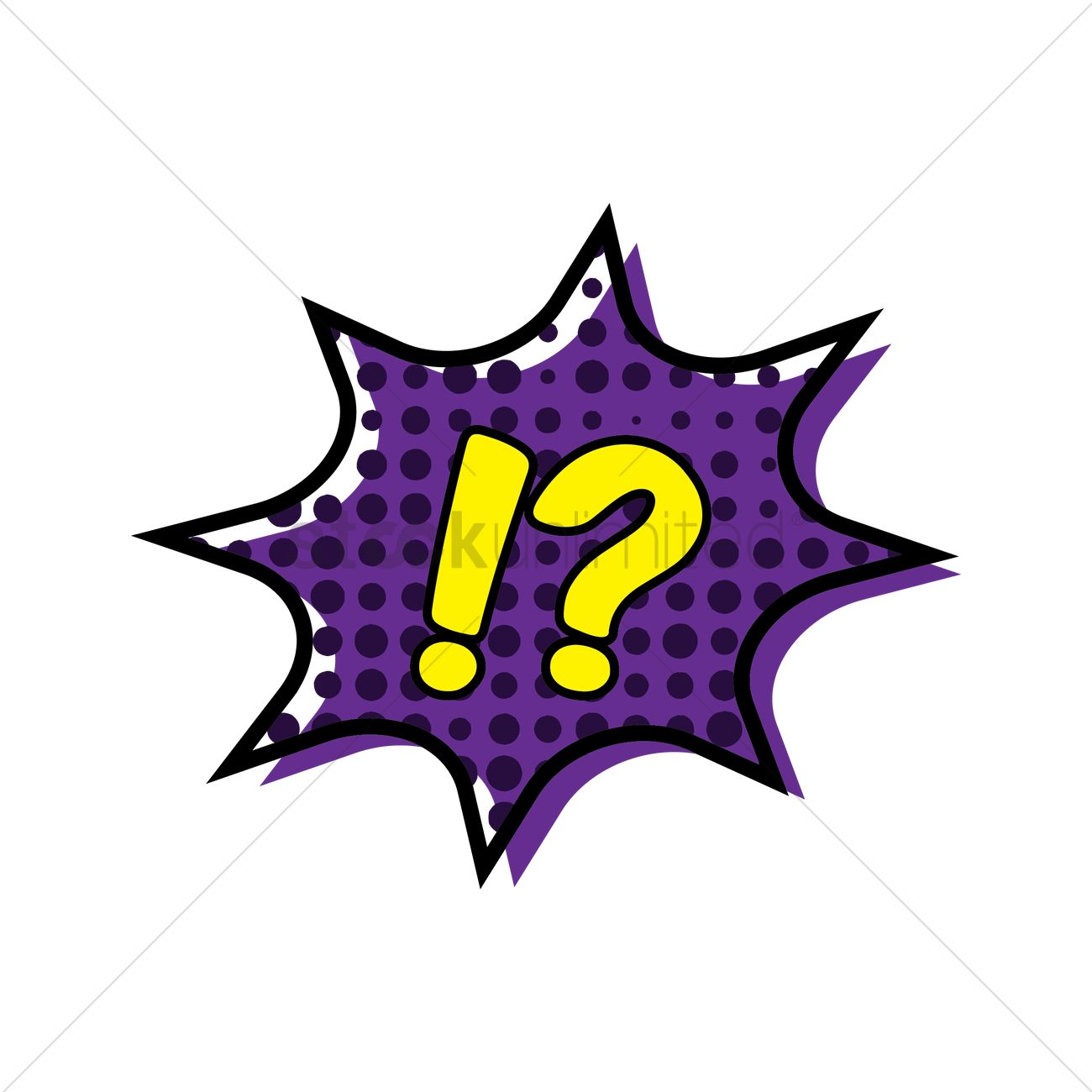 1300x1300 Comic Bubble With Exclamation Mark And Question Mark Vector Image