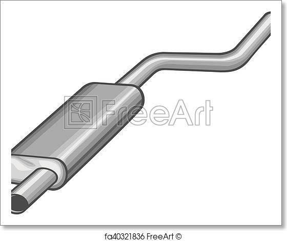 560x470 Free Art Print Of Car Exhaust Pipe Vector Illustratio. Car Exhaust