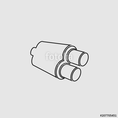 500x500 Exhaust Vector Icon For App And Website Stock Image And Royalty