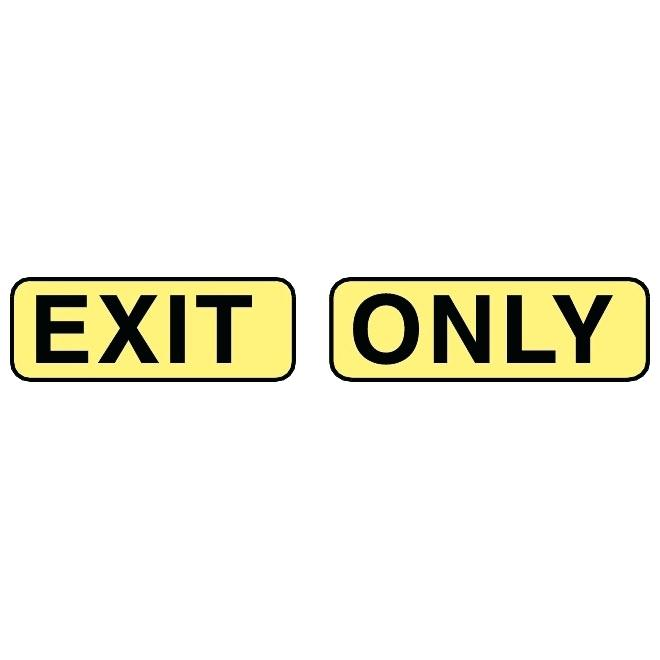 660x660 Exit Only Sign Vector Led Conversion Kit Getsuitable