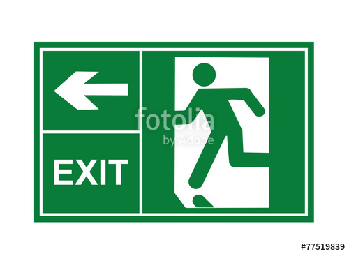 500x364 Exit Sign, Exit Way, Exit Vector Stock Image And Royalty Free