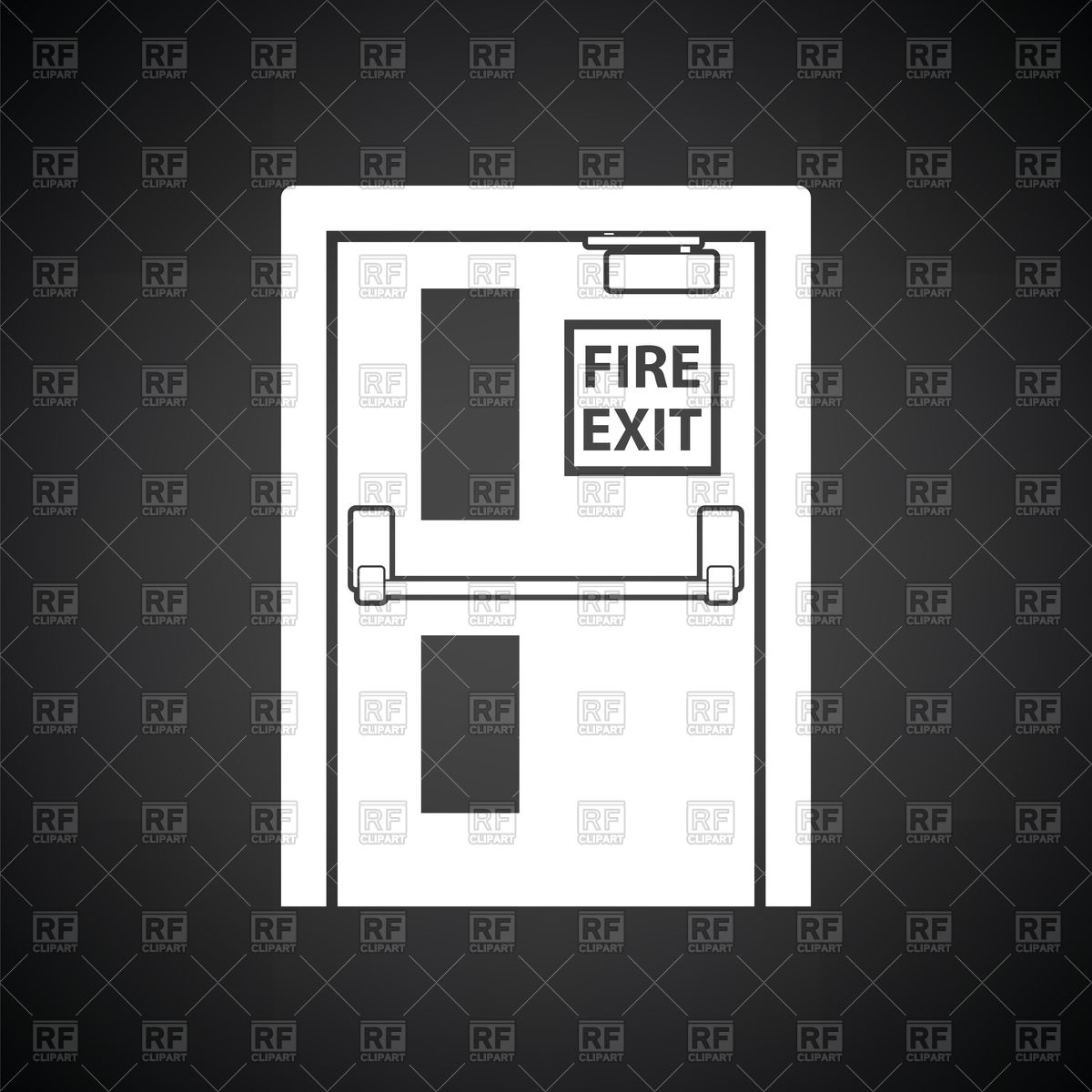 1200x1200 Fire Exit Door Icon Vector Image Vector Artwork Of Signs