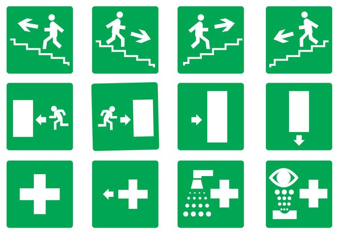 700x490 Free Emergency Exit Set Vector
