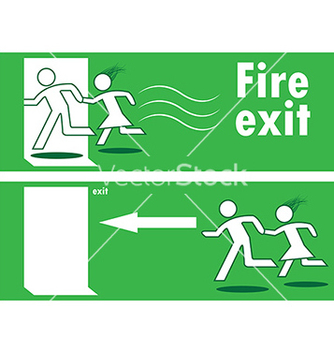 334x352 Emergency Exit Black And Red Sign Free Vector Download 305091