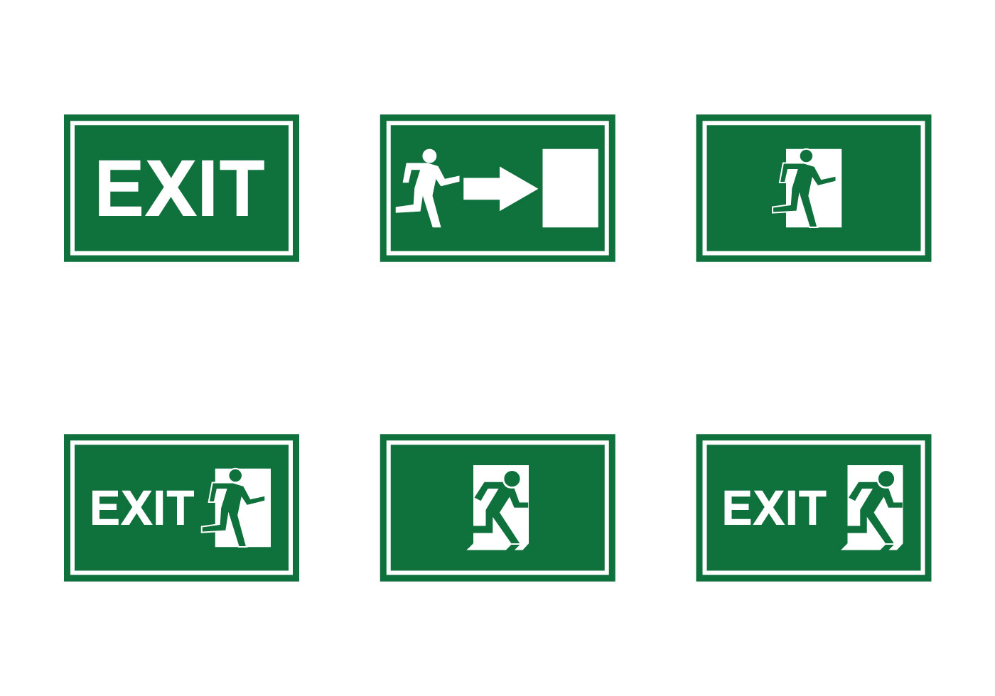 1400x980 Emergency Exit Free Vector Art