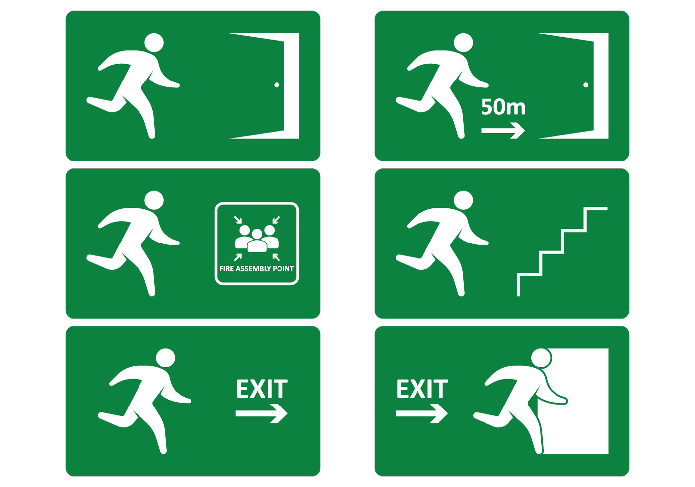 1400x980 Emergency Exit Sign