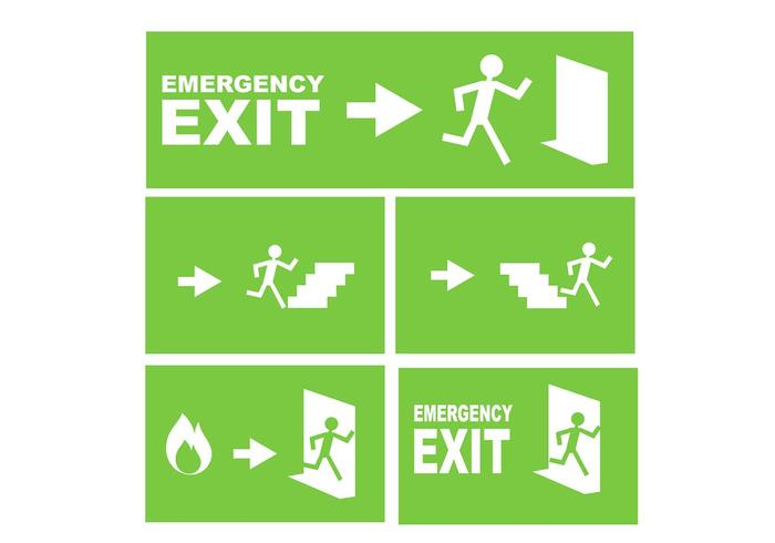 700x490 Emergency Exit Sign Free Vector
