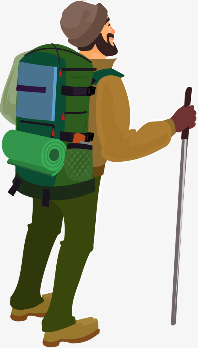 650x1145 Mountain Explorer, Tourist, Cartoon, On Vacation Png And Vector