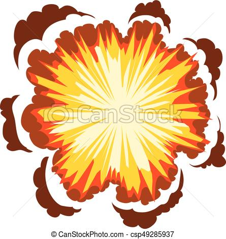 445x470 Explosion Icon, Cartoon Style. Explosion Icon. Cartoon