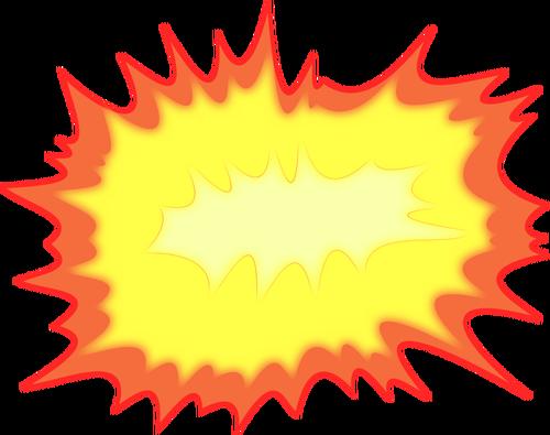 500x395 Explosion Vector Illustration Public Domain Vectors
