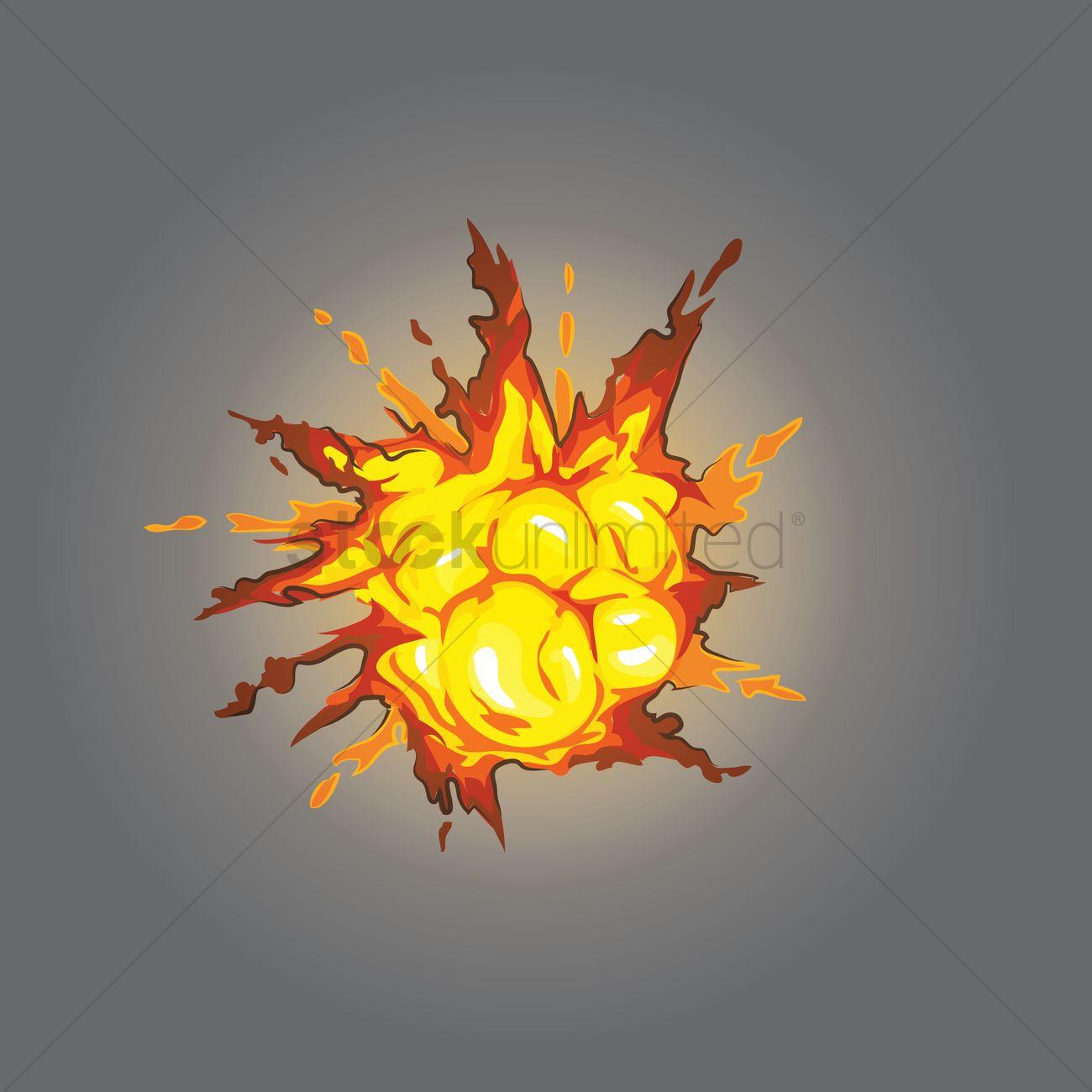 1300x1300 Isometric Explosion Vector Image
