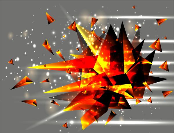 600x459 Sharp Crystal Explosion Vector Free Vector In Adobe Illustrator Ai