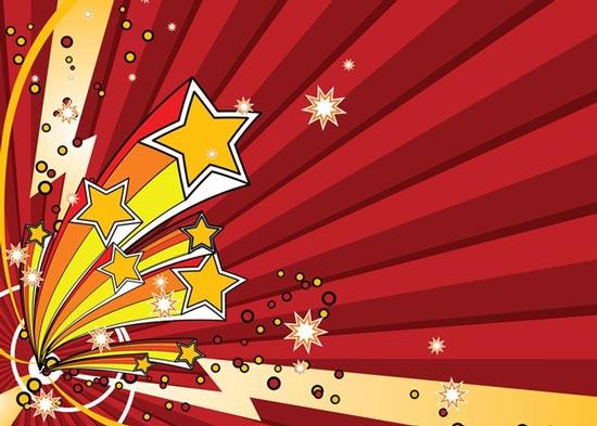 550x393 Stars Explosion Vector Art