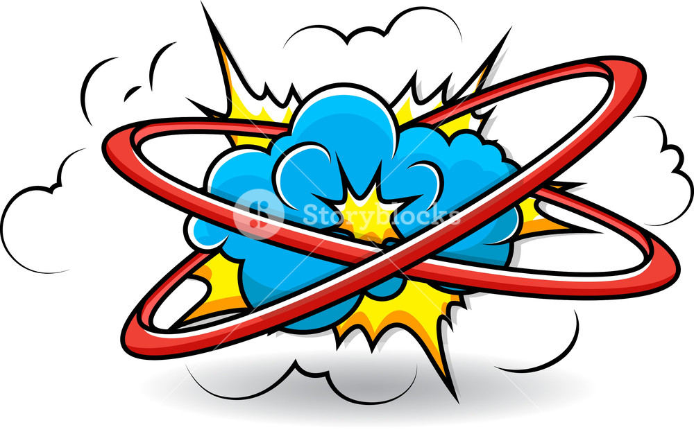 1000x626 Comic Book Cloud Explosion Vector Royalty Free Stock Image